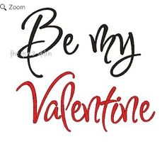 Free Embroidery Design: Be My Valentine - I Sew Free