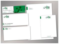 Printed stationery (business card, with compliments slip, DL envelope, letterhead and A5 notepad)