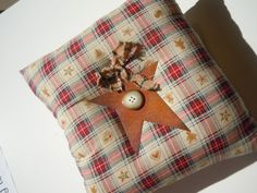 Rustic Rusty Star Primitive home accent Pillow by PruittCreations, $12.00