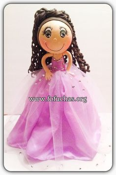Quinceañera Fofucha Doll  This is a handmade doll. She is made using foam sheets and fabric.She is about 12 inches weight of the decor is approx 08 oz. He can be an eye catching Centerpiece or caketopper. I can add your child's name at no additional cost. I can make custom fofuchas just get in contact with me.   see more of my work at www.facebook.com/fofuchashandmadedolls #Quinceañera #Sweet16 #fofuchas #birthday