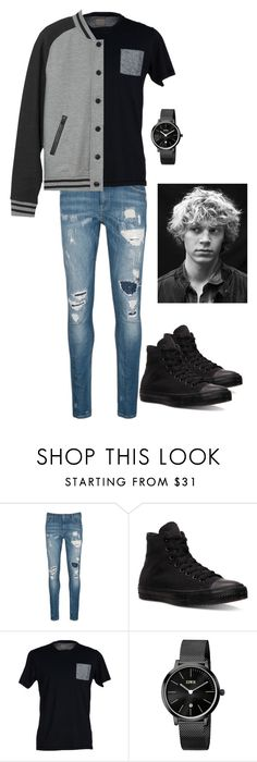 """John"" by fawn-fleur ❤ liked on Polyvore featuring Scotch & Soda, Converse, SELECTED, KENNY, L.L.Bean, men's fashion and menswear"