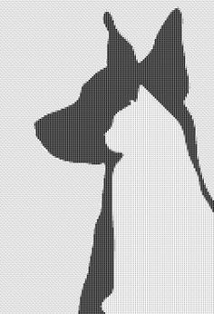 Dog and cat in silhouette cross stitch pattern. by Crossstitchinn