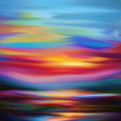 Sunset Dreams Abstract (2016) Oil painting by Nikolina Andrea | Artfinder