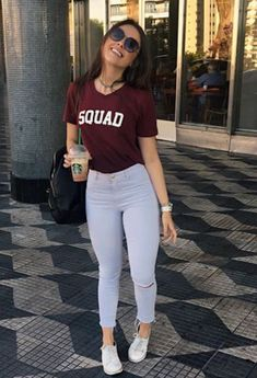 T-Shirts of basic outfits, simple outfits, jean outfits, trendy o Cute Casual Outfits, Simple Outfits, Chic Outfits, Summer Outfits, Girl Outfits, Fashion Outfits, Denim Outfits, Legging Outfits, University Outfit