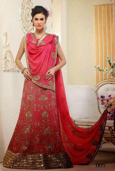 Stylish Pink Bridal Lehenga Choli | Saris and Things