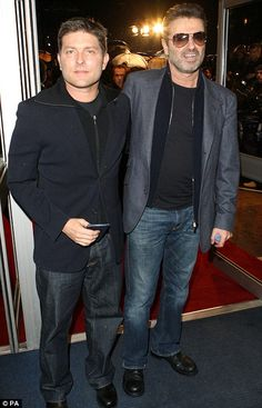 Still together: George Michael has denied reports that he and Kenny Goss have split after 15 years
