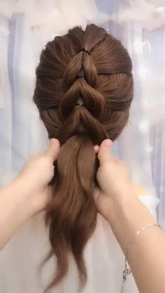 Hairdo For Long Hair, Easy Hairstyles For Long Hair, Girl Hairstyles, Hairstyle Short Hair, Braids For Thin Hair, Step By Step Hairstyles, Braided Hairstyles, New Hair Style Girls, Girl Hair Dos