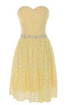 Cross Pleated Bodice Daffodil Lace Bridesmaid Dress/ Formal Dress