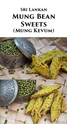 Yet another Sri Lankan recipe that is integral to celebrating the New Year, the mung kevum or the mung bean sweets are a mix of sweet mung bean paste coated in a rice flour batter and fried to perfection