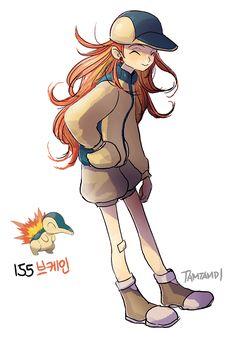 Pokemon gijinka 155. 156. Cyndaquil Quilava 157. Typhlosion