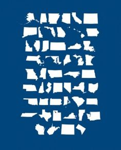 Free 4th of July Printable with the States shapes