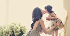 Baby on Chair – Mom kisses baby I want this of dawn-Marie and Howie Dale