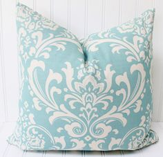 Blue Pillow Throw Pillow Cover ONE by MariaClaireInteriors on Etsy