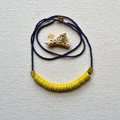 is was and will be - conquest necklace with african trade beads $41