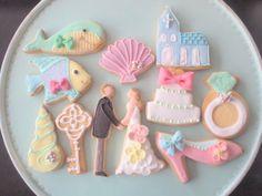 プチギフトにはこんな可愛いクッキーを : ディズニー映画「リトルマーメイド」がテーマの結婚式アイデア