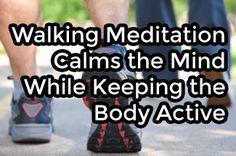 Walking Meditation Calms the Mind While Keeping the Body Active Walking Meditation, Easy Meditation, Meditation Benefits, Guided Meditation, Mindfulness Practice, Mindfulness Meditation, Mind Body Spirit, Mind Body Soul, Yoga Words