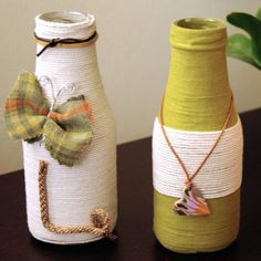 Use your empty glass bottles or jam jars to decorate your house!