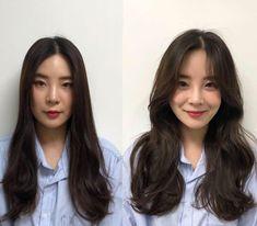 Korean Haircut Long, Korean Long Hair, Hair Korean Style, Korean Medium Hair, Korean Hairstyle Medium Round Faces, Korean Curls, Korean Hair Color, Asian Haircut, Haircuts Straight Hair