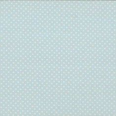 Makower - Spot On Baby Blue cotton fabric