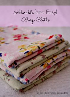 Adorable {and Easy} burp Cloths- {i love} my disorganized life #burpcloths #baby