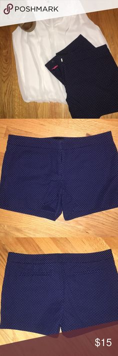 Cynthia Rowley Navy Shorts with White Polka Dots Cynthia Rowley Navy Shorts with White Polka Dots  Size 10  Never Worn  Super cute / nautical  Clasp (pictured) Smoke / Pet Free home Cynthia Rowley Shorts