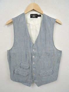 RRL STRIPE WORK VEST