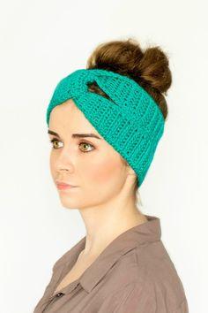 Twisted Turban Headband Free Crochet Pattern via Hopeful Honey