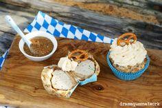 Weißwurst-Brezel-Muffins Wiesn-Muffins Oktoberfest-Muffins White-Sausage-Pretzel-Muffins