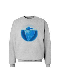 TooLoud Iceberg Watercolor Sweatshirt