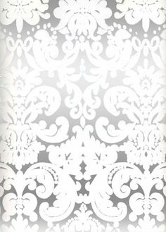 White & Silver Mylar Leafy Damask retro modern wallpaper for master bath! Pearl Wallpaper, Luxury Wallpaper, Damask Wallpaper, Modern Wallpaper, Home Wallpaper, Metallic Wallpaper, Wallpaper Samples, Custom Wallpaper, Wallpaper Ideas