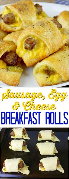 Sausage, Egg & Cheese Breakfast Rolls recipe from The Country Cook #ad #ebeggs