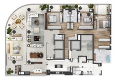 Neorama - Floor Plan - Bueno Netto/Geometria Layouts Casa, House Layouts, Small House Plans, House Floor Plans, Villa Design, House Design, Apartment Floor Plans, Floor Plan Layout, Apartment Layout