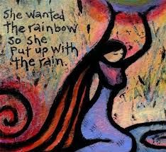 She wanted the rainbow so she put up the rain. :) Pretty, cos there is no rain :) and when it feels like rain, dance through it with all your heart. Magical God and Goddess Thoughts :) :) Great Quotes, Quotes To Live By, Inspirational Quotes, Motivational Quotes, Positive Quotes, Uplifting Quotes, Spiritual Quotes, Rain Quotes, Me Quotes