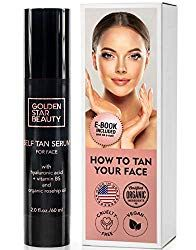 Self Tanner For Face - Anti Aging Sunless Tanning Serum w/Hyaluronic Acid and Organic Oils - Non Comedogenic Fake Tan Facial Bronzer including Booklet For Sunkissed Glow - fl - Skincare Self Tanner For Face, Face Tanner, Best Self Tanner, Best Sunless Tanner, Sunless Tanners, How To Tan, Gradual Tan, Self Tanning Lotions, Organic Skin Care