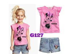 H&M Minnie pink girlset (G127) || size 2-7 || IDR 119.000