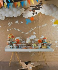 New baby shower decorations vintage travel party Ideas Planes Birthday, Planes Party, 1st Boy Birthday, Birthday Parties, Baby Shower Themes, Baby Shower Decorations, Baby Boy Shower, Airplane Baby Shower, Airplane Party