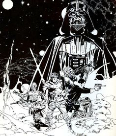 Wither as an illustrator or inking other artists, there are few masters as incredible as Al Williamson. Probably my single favorite inker ever, but it was his Star Wars work that first introduced me to his work.