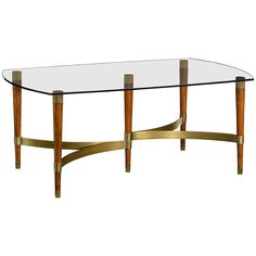 Jonathan Charles Hyedua Wood Coffee Table