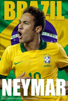 Neymar Brazil Brilliance World Cup 2014 Soccer Action Poster - Starz