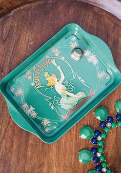 Serves Up Tray. Place a few apritifs atop this jade-green, decorative tray and sense the absinthe of hostess stress! #multi #modcloth