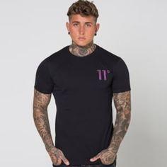 75f7ac2f11 11 Degrees - Burgundy Spyro Logo Short Sleeve T-Shirt - Black