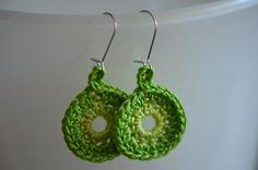 Crochet earrings / Virkatut korvakorut #design #cards