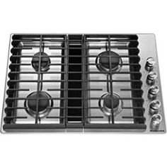Buy the KitchenAid Stainless Steel Direct. Shop for the KitchenAid Stainless Steel 30 Inch Wide Built-In Natural Gas Cooktop with Downdraft Ventilation and save. Gas Cooktop, Stainless Steel, Stainless, Downdraft Cooktop, Stove, Steel, Gas, Iron Grate, Cooktop