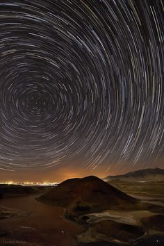 Volcanic Field Star Trails A long exposure image captured the rotating sky above Karapinar volcanic field located in central Anatolia, Turkey.