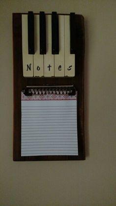 Repurposed piano keys                                                                                                                                                                                 More
