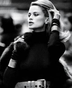 Love the double cuffs very Diana Vreeland