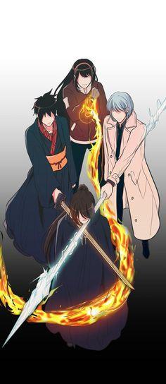 """Don't go again, Bam"" Anime Demon, Manga Anime, Anime Art, Manhwa, Webtoon Comics, Estilo Anime, Kawaii Anime, Anime Characters, Character Art"