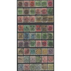 Germany 1923 Outstanding set of 54 fine used - many expertised. SG 274/326. CV R…