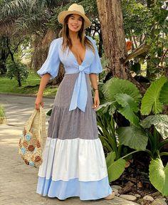 Ootd Fashion, Girl Fashion, Fashion Outfits, Boho Chic, Casual Dresses, Casual Outfits, Maxi Styles, Estilo Boho, Plus Size Outfits