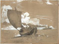 Fishing off Scarborough by Winslow Homer | The Art Institute of Chicago